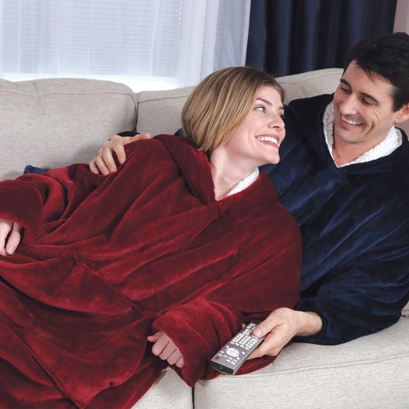 2 in 1 Christmas Warm Lazy Blanket