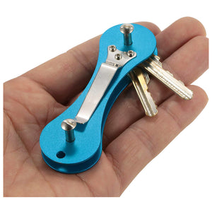Aluminum Smart Key Holder Organizer Clip Folder Keychain Pocket car key case  key chain&Key Wallets ring collector housekeeper