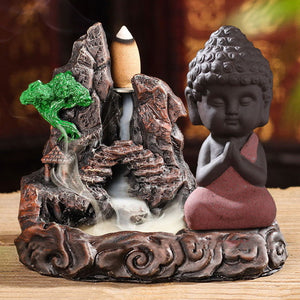 Backflow smoke rockery Ceramic Porcelain rockwork stove Burner Holder Buddha Censer Incense Sticks incense coils cones Furnace