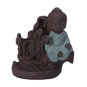 Ceramic Buddha Handicraft Smoke Back flow Incense Burner