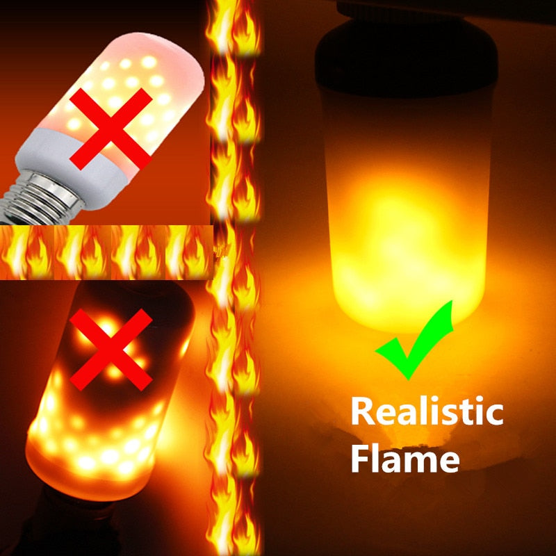 Creative 3 modes+Gravity Sensor Flame Lights, Flame Effect Fire Light Bulb