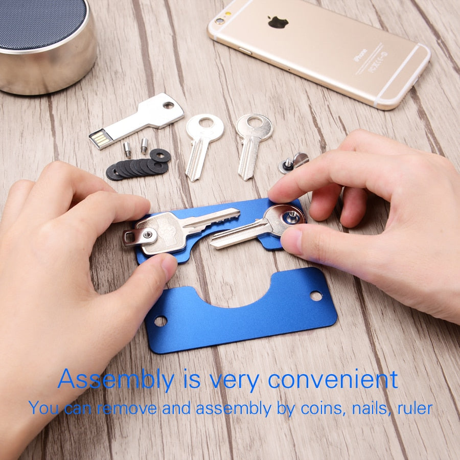 EDC Key Wallets Men car Key Holder Smart Housekeeper Keys Organizer Keychain