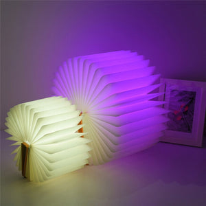 Auslese Led Light Book Foldable Wooden Lamp USB Rechargeable Night Lights.