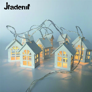 Jiaderui LED Garland Wood House String LED 1.5m 10LEDs Room Decor String Lamp Wedding Party Holiday Fairy Lights Novelty Lamp