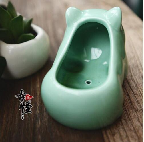 Pokemon Ceramic Flowerpot Bulbasaur Planter White Green Succulent Plants Flower Pot Hole Cute Mini