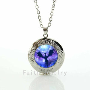 Vintage dragon necklace jewelry pterosaur space pendants necklaces huge dinosaur statement necklaces locket pendant  N792