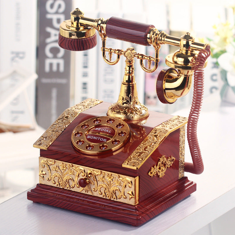 Lover Wedding Home decor Music Box Classical Red Telephone Figurine Desktop Jewelry Box Luxurious Gift High Quality Music Box