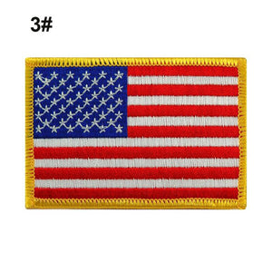 High Grade Embroidered thread American Flag Embroidered Patch Patriotic USA Military tactics Patch Iron-On or Sew to Any Garment