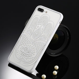 USLION Sexy Floral Phone Case For Apple iPhone 7 6 6s 5 5s SE Plus Lace Flower Hard PC+TPU Cases Back Cover For iPhone X 8 Plus