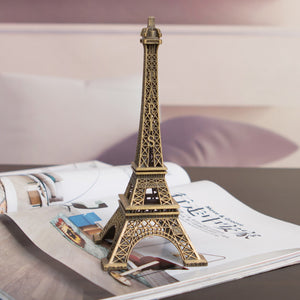 1Pc Creative Gifts 10cm Metal Art Crafts Paris Eiffel Tower Model Figurine Zinc Alloy Statue Travel Souvenirs Home Decorations