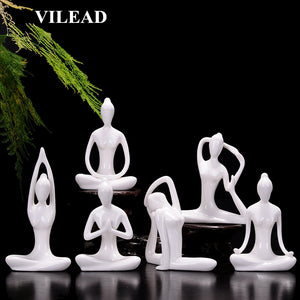 Abstract Ceramic Yoga Figurines