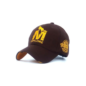 M Embroidery Snapback Baseball Cap Cotton Sun Hats For Men Women Adjustable Fitted Polo Caps Leisure Trucker Dad Hat Sports Cap