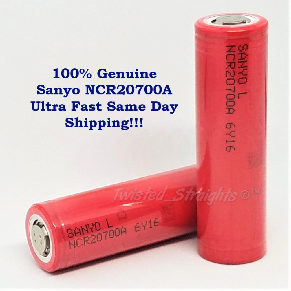 BRAND NEW Authentic Sanyo NCR 20700A 3200mAh 30amp Harvested Li-On Rechargeable Battery