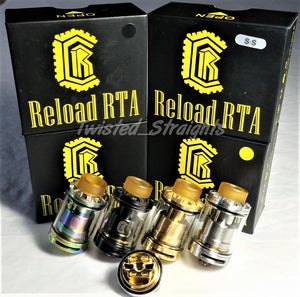 Reload RTA Identical 1:1 STYLE 24mm With Two 3.5ml Pyrex Glass Tanks