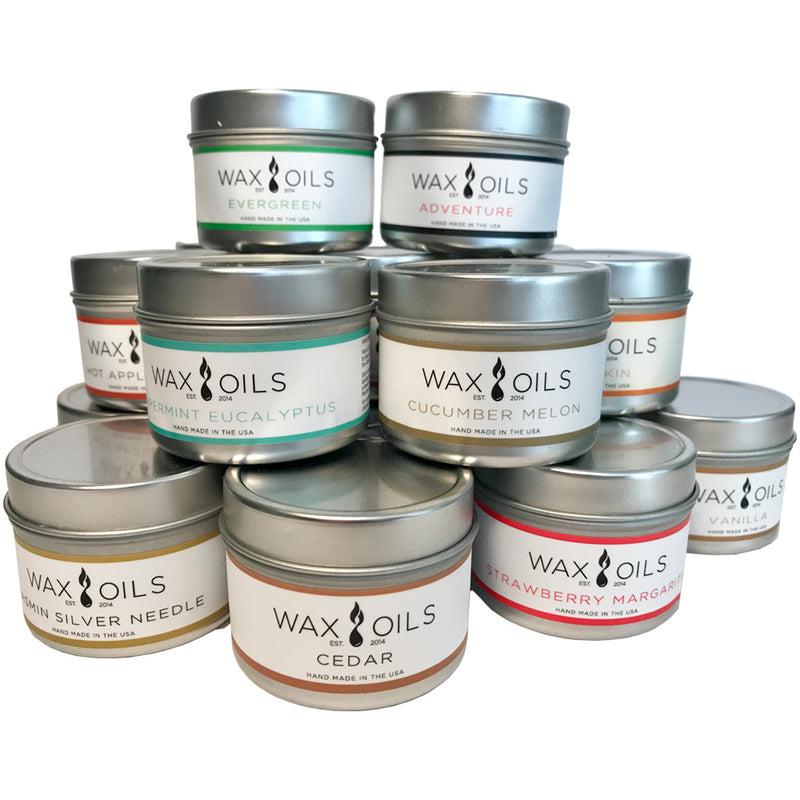 wax and oils scented candles 10 pack 2oz size custom