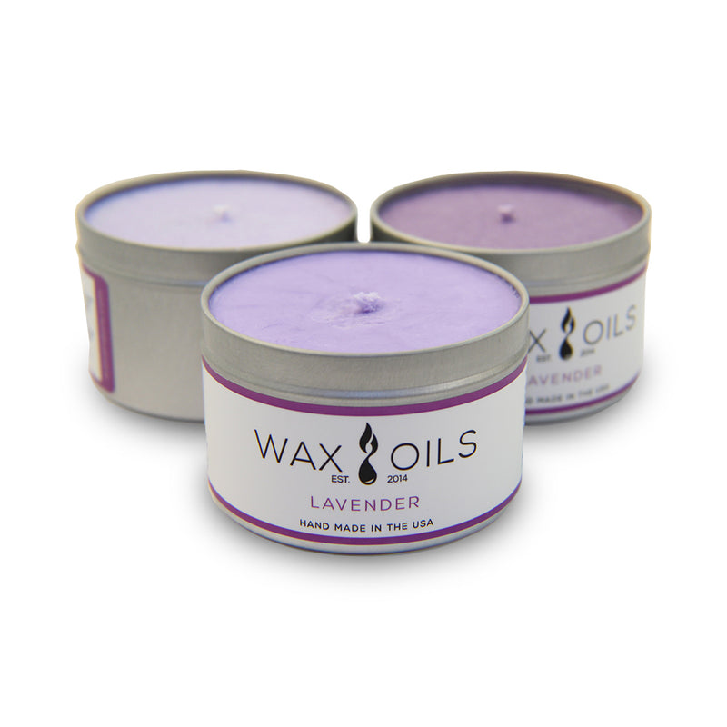 wax and oils scented candles 3 pack lavender
