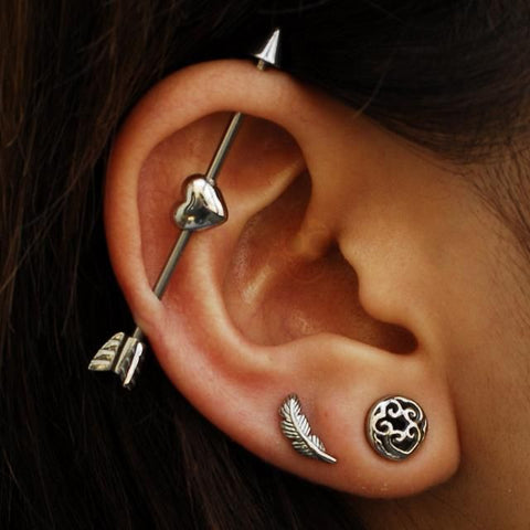 Industrial Piercing Jewelry Industrial Barbell 14 Gauge Barbell Industrial Earring Industrial Piercing Surgical Steel