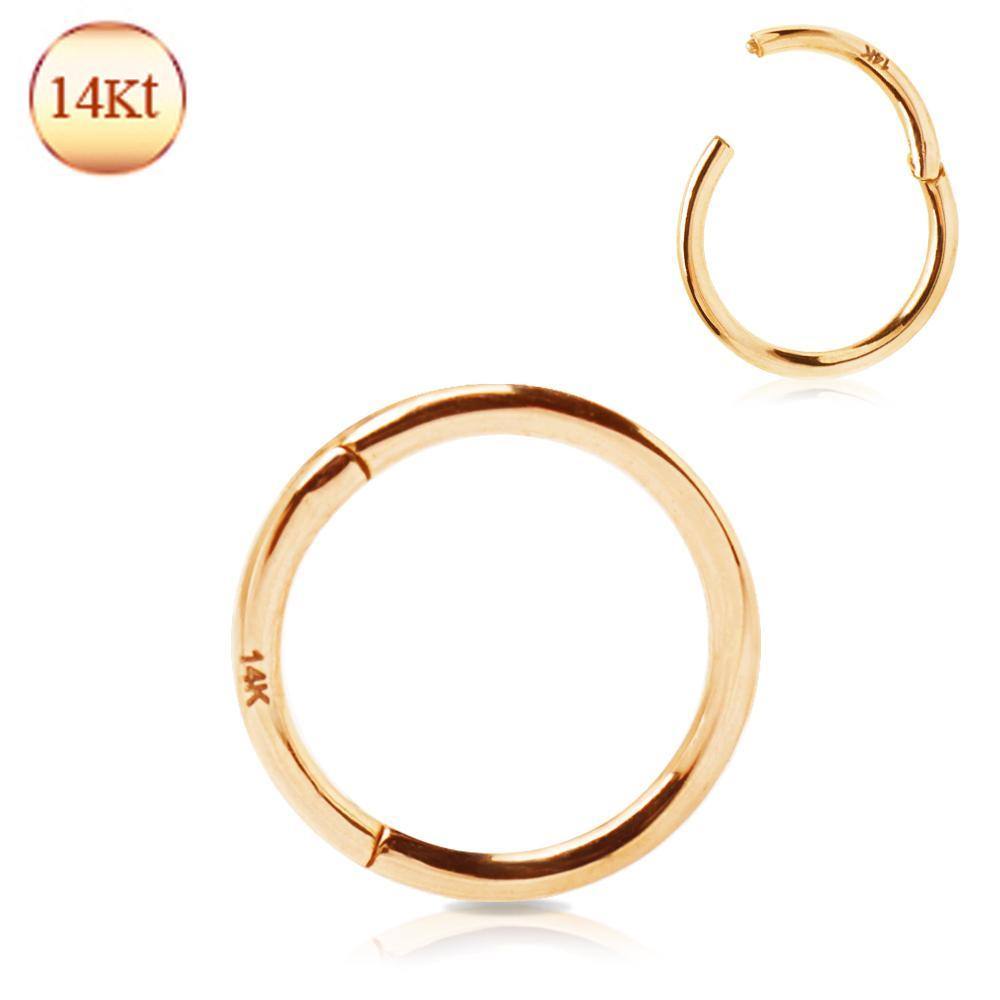 SEAMLESS CLICKER/Nose Ring/Belly Button Rings/Tragus Jewelry/Septum Rings/Daith 14K Rose Gold Seamless Clicker Ring -Rebel Bod-RebelBod