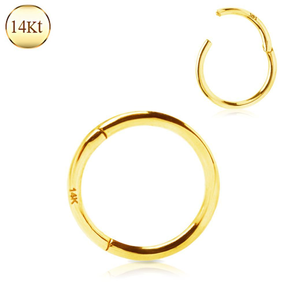 SEAMLESS CLICKER/Nose Ring/Belly Button Rings/Tragus Jewelry/Septum Rings/Daith 14K Yellow Gold Seamless Clicker Ring -Rebel Bod-RebelBod