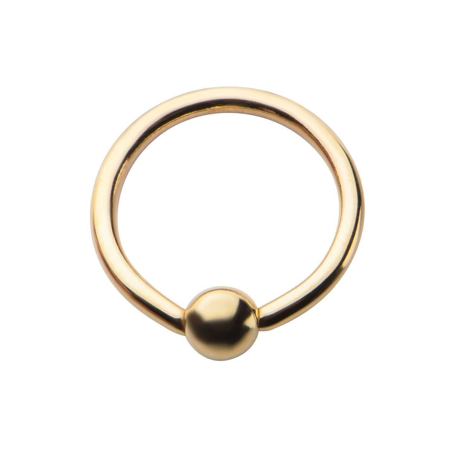 14K Gold Captive Bead Ring