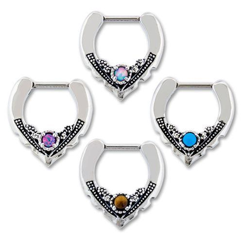 SEAMLESS CLICKER 16g Vintage Septum Clicker - 1 Piece -Rebel Bod-RebelBod