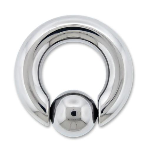 2G High Polish Titanium Captive Bead Ring - 1 Piece