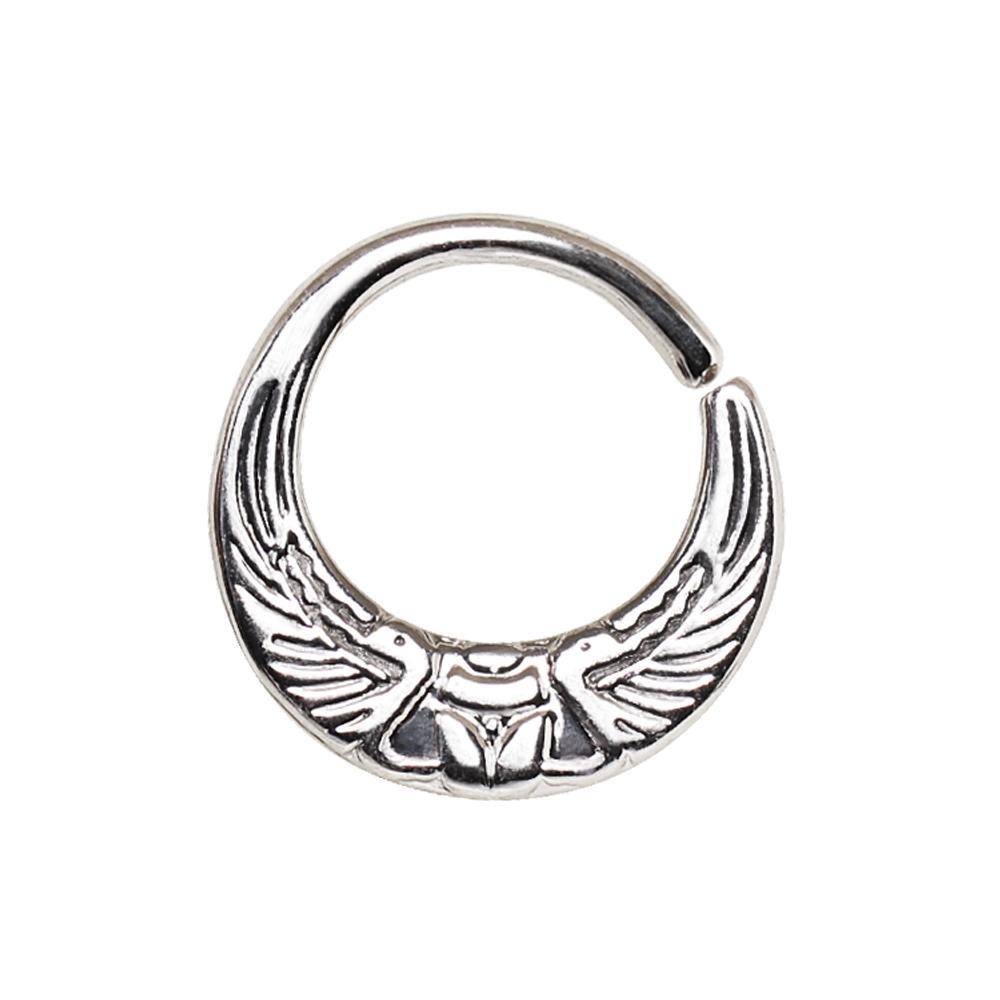 SEAMLESS RING/Nose Ring/Belly Button Rings/Tragus Jewelry/Septum Rings/Daith 316L Surgical Steel Egyptian Winged Sun Seamless Rings / Cartilage Earrings -Rebel Bod-RebelBod
