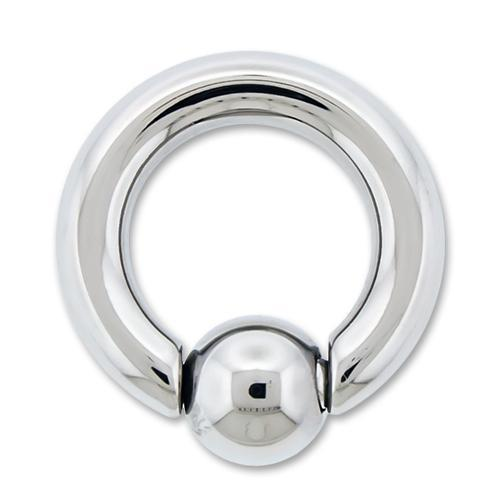 6G High Polish Titanium Captive Bead Ring - 1 Piece
