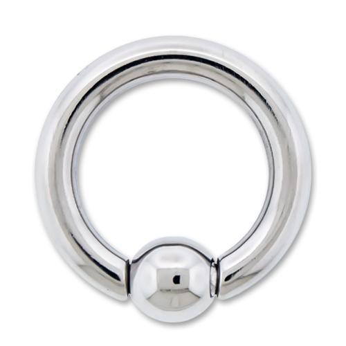 8G High Polish Titanium Captive Bead Ring - 1 Piece