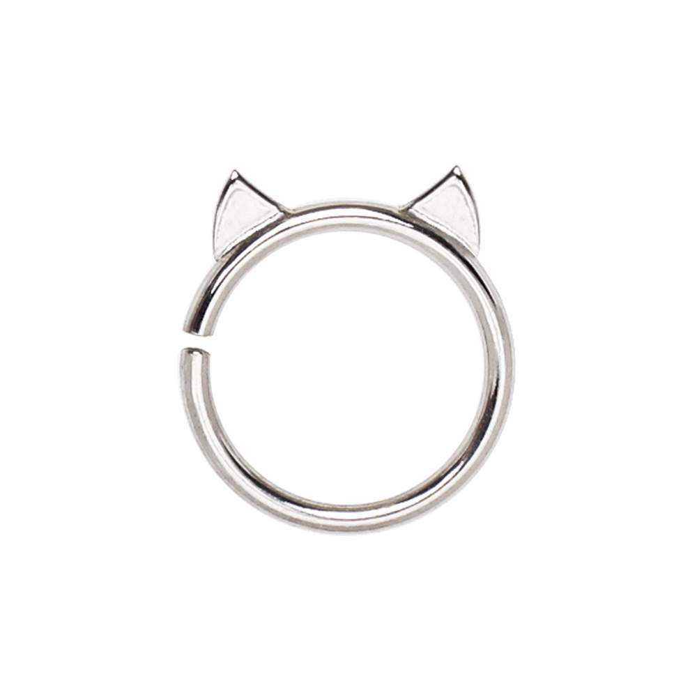 Annealed 316L Stainless Steel Cat Cartilage Earring - 1 Piece
