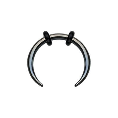 Nose Piercing/Septum Piercing/Septum Jewelry/Septum Rings/Septum Clicker/Daith Clicker Black Colored Basic Steel Pincher Septum Ring -Rebel Bod-RebelBod