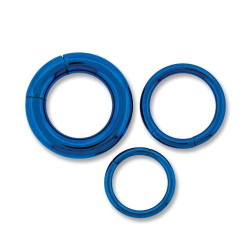 Blue Astm Titanium Segment Ring 10G-14G - 2 Pieces