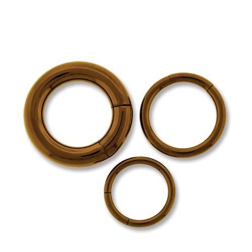 Bronze Titanium Segment Rings - 2 Pieces