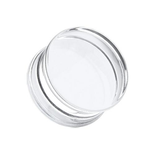 Clear Basic Acrylic Double Flared Ear Gauge Plug - 1 Pair