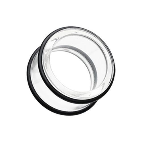 Clear Basic Acrylic No Flare Ear Gauge Tunnel Plug - 1 Pair