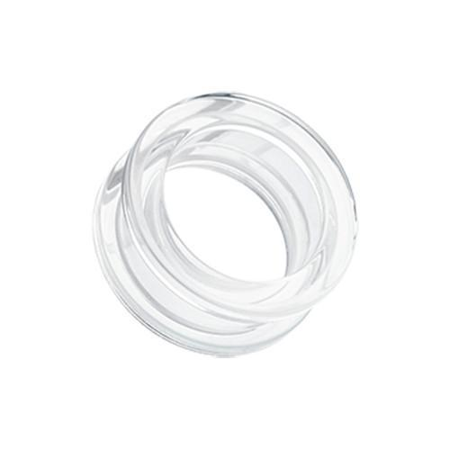 Clear Basic Acrylic Screw-Fit Ear Gauge Tunnel Plug - 1 Pair