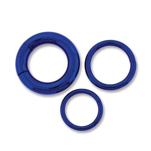 Dark Blue Astm Titanium Segment Ring 10G-14G - 2 Pieces
