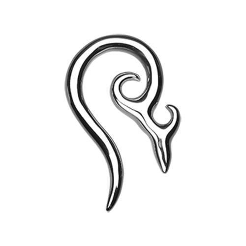 Devil's Horn Steel Ear Gauge Spiral Hanging Taper - 1 Pair