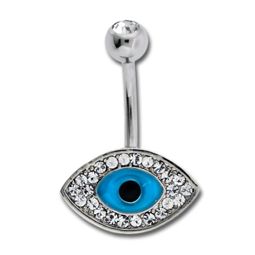 Belly Ring - No Dangle Evil Eye Belly Ring - 1 Piece -Rebel Bod-RebelBod