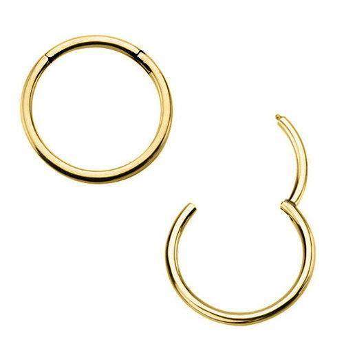 Gold Plated 316L Surgical Steel Seamless Clicker Ring