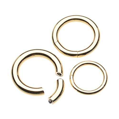 Gold Plated Segmented Captive Bead Ring