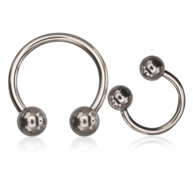 CIRCULAR BARBELL/Nose Ring/Belly Button Rings/Tragus Jewelry/Septum Rings/Daith Implant Grade Titanium 23 (Ti6al4v-ELI) Basic Horseshoes with 5mm ball ends sbvg23ht -Rebel Bod-RebelBod