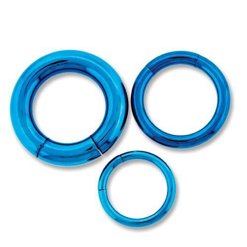 Light Blue Titanium Segment Ring - 1 Piece #SPLT#