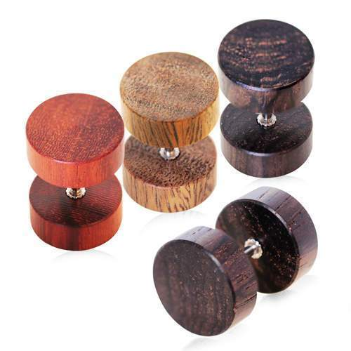 Organic Wood Fake Plug - 1 Piece