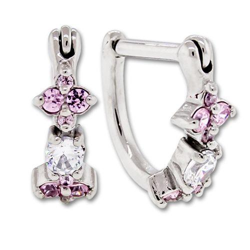SEAMLESS CLICKER Pink Gem Cluster Tragus Rook Ear Clicker - 1 Piece -Rebel Bod-RebelBod