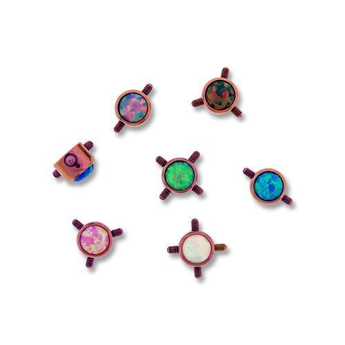 Pink Titanium Multi Thread Opal Disc - 1 Piece