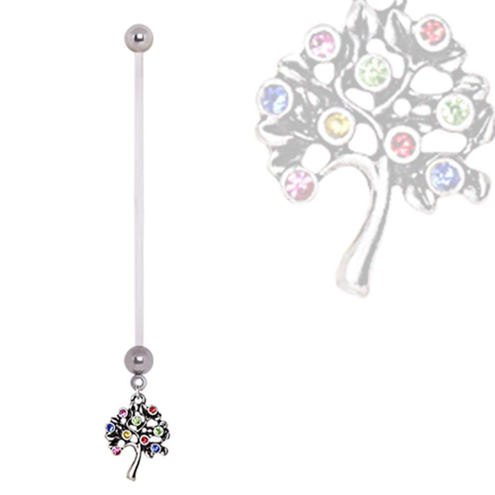 PTFE Fruiting Tree of Life Pregnancy Navel Ring