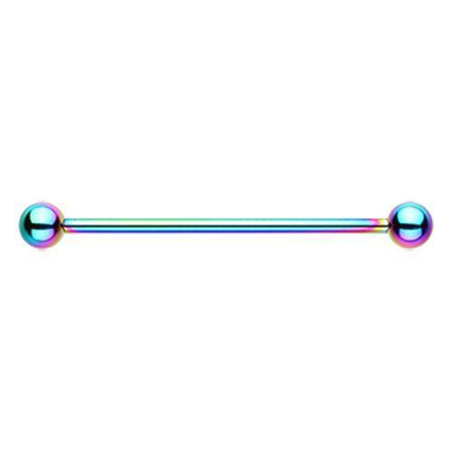 Rainbow Colorline PVD Basic Industrial Barbell - 1 Piece