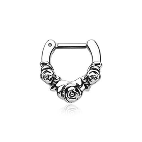 Rose Garden Icon Septum Clicker / Daith Clicker - 1 Piece