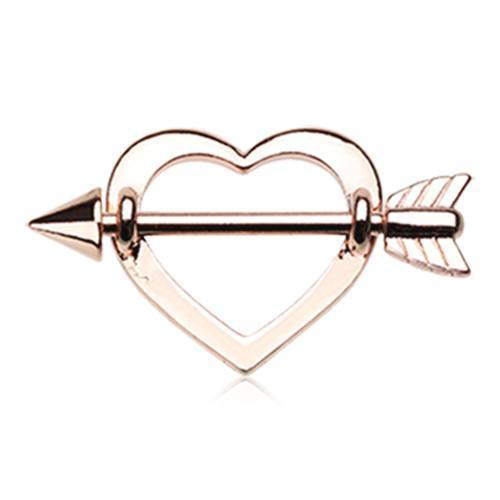 Rose Gold Cupid's Heart Nipple Shield Ring - 1 Piece